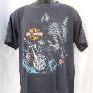 RARE Vintage 3D Wolf HARLEY-DAVIDSON T-Shirt